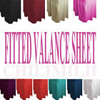 Plain Dyed Fitted Valance Bed Sheet Poly-Cotton Sizes Single Double