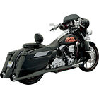 Bassani Black Bagger Stepped True Duals Exhaust  B1 Mufflers for Harleys