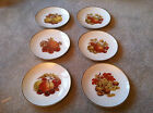 USED Vintage Bavaria Mitterteich Fruit Germany Gold Trim Set of 6, Salad Plate
