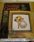 Erica Wilson Crewel Lady Mouse Vintage Kit 1973 Wool Yarn USA Stitchery Balloons
