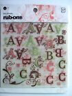 Basic Grey Two Scoops Alphabet Rub Ons NEW