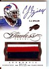 2014 Panini Flawless C. J. Spiller Ruby Autograph 3 Color Patch Card 07 15