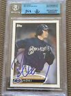 Brewers Norichika Aoki Signed Auto 2012 Topps Card #507 JSA Certified Authentic