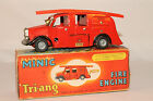 1950's Triang Minic Windup Tin Firetruck with  Box, Nice