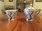Vintage Nippon Creamer and Sugar Bowl Beaded Gold Trim Hand Painted