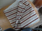 Waverly Striped Fabric in Earthy  Colors. New.  54