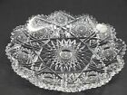 American Brilliant Period Cut Glass Plate ABP antique blown blank 9