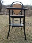 Antique Thonet  Bentwood Highchair Late 1800s Charlottesville, Central Virginia