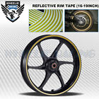GOLD REFLECTIVE RIM TAPE WHEEL STRIPE MOTO BIKE AUTO DECAL STICKER 16 17 18 19