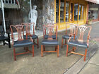 Fantastic Set of Six Shop Made Chippendale Dining Room Chairs 20th century.
