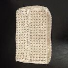 Vintage 1920's Cream White Micro Beaded Belt Hip Coin Purse