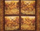 Whitetail Deer Hautman Cotton Fabric Panel Pillow Wall hanging YOUR CHOICE