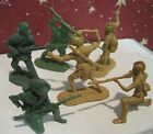 BARZSO MARX ROGERS RANGERS PLAYSET 6 PIONEER FRONTIERSMEN INDIANS TOY SOLDIER