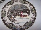 Johnson Bros Friendly Village The School House Set of 5 Dinner Plates - 9.75