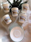 Corelle Corning Ware COUNTRY MEMORIES Christmas SET of 5 CUPS & SAUCERS New Cond