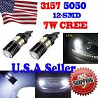 4 x Xenon White 6000K 3157 CREE + 12 SMD LED Bulb Car Parking Back Up Lights US
