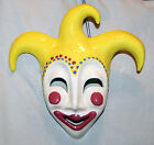 Clay Art Ceramic Mask Wall Hanging SIGNED Hand Painted
