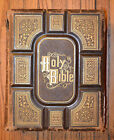 antique Holy Bible family book New and Improved Dictionary Reverend Alfred Nevin