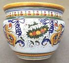 Deruta Pottery-11Hx14,1/2W plant Pot Raffaellesco. Made/painted by hand in Italy