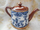 Rare SJB Flow Blue Tea Pot - Samuel Johnson Burslem, England 1887 - 1931