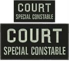 COURT SPECIAL CONSTABLE Embroidery Patches 5x10 and 3x6 Velcro