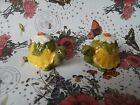 Vintage daisy turtles salt and pepper shakers
