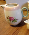 RARE 1940s HOMER LAUGHLIN Eggshell Swing Moss Rose  Tea Pot