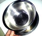 Vintage Stainless Steel 18/8 serving/gravy bowl with flower design