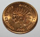 1776 – 1976 Indian Head Bicentennial Token by Centennial Coins Stamps and Antq