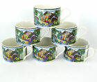 Fitz and Floyd Habitat Americana Town & Country Omnibus 6 Mugs Cups