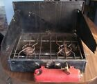 Coleman 413G Double Dual Burner Cook Camping Stove C1960s Vintage