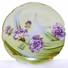 Vienna China Handpainted Porcelain Plate Charger signed Fischer Purple Flowers