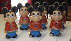 6 Mickey Mouse Figure Made In Hong Kong - WALT DISNEY PRODUCTIONS - VINTAGE