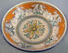 Deruta Pottery-9,3/4 In.bowl Barocco Rococo'. Made/painted by hand in Italy