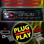 FOR 98 2013 HARLEY DAVIDSON TOURING PLUG  PLAY PIONEER CD AUX RADIO STEREO KIT