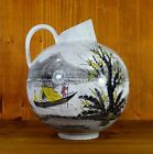 hand painted mid century VASE by jawe WGP beautiful chinese far east style decor