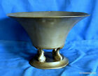 RARE MODERNIST DESIGN JUST ANDERSEN DENMARK DOLPHINS PEWTER COMPOTE PATINA