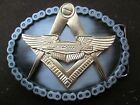 widows sons, harley  24kt gold finish freemasons, masonic biker belt buckle