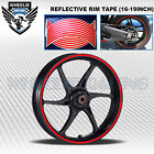 RED REFLECTIVE RIM TAPE WHEEL STRIPE MOTO BIKE AUTO DECAL STICKER 16 17 18 19