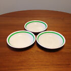 Syracuse China Green Stripe Bowl Set of 3 - Vintage Mid-Century Restaurant Ware