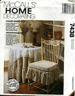 McCalls 7438 Round Table Cloths Chair Covers & Skirts & Cushions Pattern Uncut