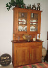 Antique Solid Pine French/German Country Dining Hutch Cupboard Cabinet 1800's