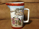 Nippon Japan Hand Painted Porcelain Pottery Vase Red and Gold Trim 6.5