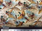 NATURE # C3688 PHEASANTS BY TIMELESS TREASURES    BY THE YARD