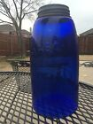 Antique Cobalt Blue Mason Patent Nov 30th 1858 with Zinc Cap Glass Jar
