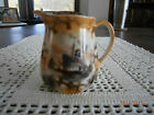 Antique Creamer Ship Picture Small Porcelain Unmarked