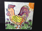 Vintage Colourful Handpainted Rooster Mexican Decorative Ceramic Tile 6