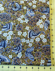 Gorgeous Hoffman Asian Butterfly Floral Print Blues Gold Metallic Masami YD