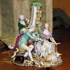 Meissen Porcelain Painted Figure of Love Couple & Listener circa 1830s