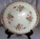 WS George Bolero Oval Plates ROSE PATTERNS Royal China Warranted 22 K Gold
